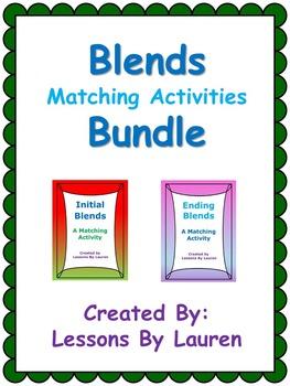 Blends Activity Bundle - Beginning Ending Blends Matching Activities