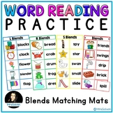 Word Reading Practice Blends Matching Mats
