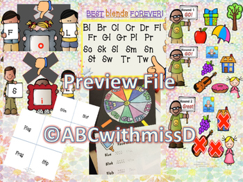 Blends Galore! Phonics Lesson, Posters, Presentation, Worksheets, Games, More!
