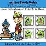 Blends Mitten Match Literacy Center