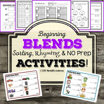 Blends Printables and Activities