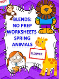 """Spring Animals """"L, R, and S Blends"""" (Worksheets)"""