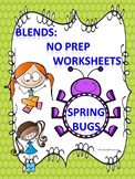 "Spring Bugs ""L, R, and S Blends"" (Worksheets)"