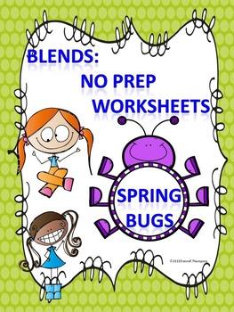 Blends: Worksheets (Spring Bugs)