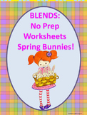 """Spring Bunnies """"L, R and S Blends"""" (Worksheets)"""