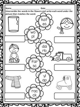 """Spring Flowers """"L, R, and S Blends"""" (Blends Worksheets)"""