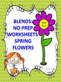 L, R, and S Blends: Spring Flowers Worksheets