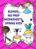 L, R, and S Blends: Spring Kids Worksheets