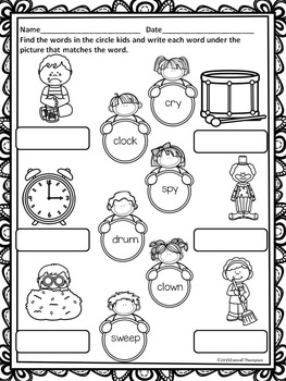 L, R, and S Blends Spring Kids Worksheets