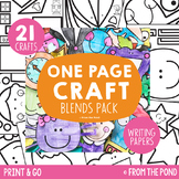 Blends One Page Craft Pack Print & Go Crafts + Writing Papers