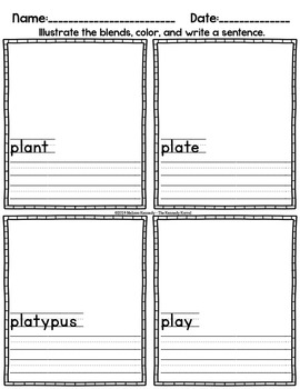 Word Work: Blends - PL and SL
