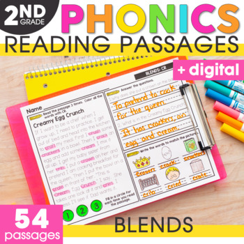 Blends Phonics Mats 2nd Grade