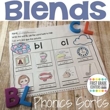 Blends Phonics Sorts L Blends  R Blends  S Blends