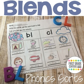 Blends: Phonics Sorts {Beginning Blends}