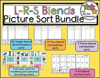 Blends Picture Sort Bundle (L-Blends, R-Blends, S-Blends Picture Sorts)