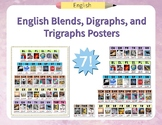 English Alphabet Blends, Digraphs, and Trigraphs Posters (