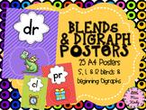 Blends & Digraph Posters Display - Beginning blends S, L & R & digraphs