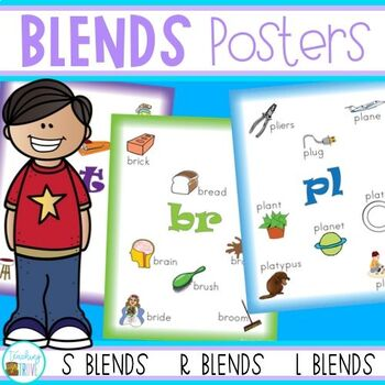 Blends Posters - s, l and r blends