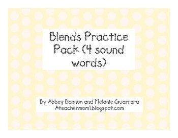 Blends Practice Pack