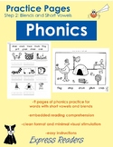 Phonics Practice Pages - Blends and Short Vowels