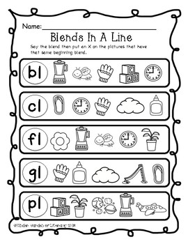 Blends Printable Pages