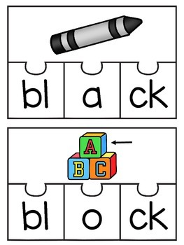 CCVC Beginning Consonant Blends Puzzles