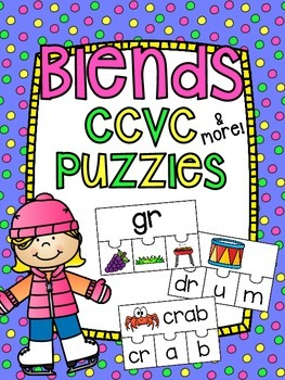 CCVC Beginning Consonant Blends Puzzles