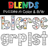 Blends Puzzles Phonics  Literacy Center Hands On Activity