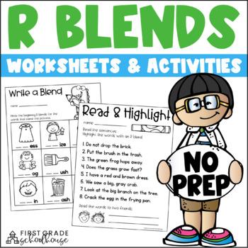 R Blends Word WorK
