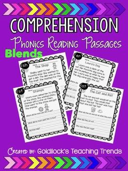 Blends Reading Comprehension Passages