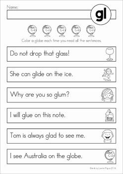 Blends Reading Fluency