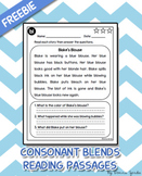 Consonant Blends Reading Passages FREEBIE