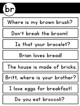 Blends Reading Passages & Fluency Sentences