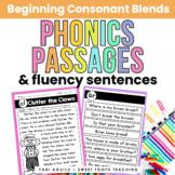 Consonant Blends Reading Passages & Fluency Sentences