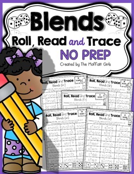 Blends Roll, Read and Trace! NO PREP