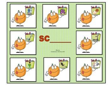 "Blends ""SC"" & ""SL"": File Folder Activity"