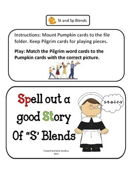 "Blends ""SP"" & ""ST"": File Folder Activity"