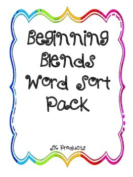 Beginning Blends Sorting Pack