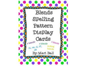 Blends Spelling Pattern Cards