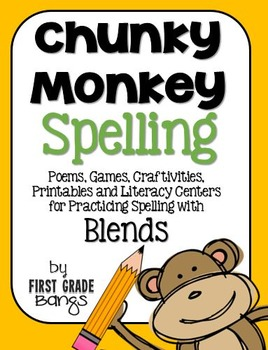 Blends Spelling- Poems, Lists, Crafts, Centers, and More!