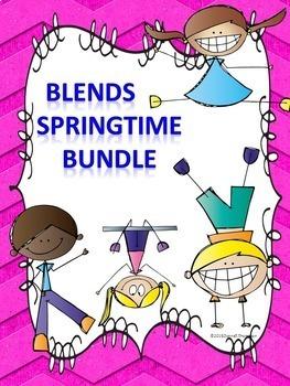 Blends Bundle: Worksheets (Springtime)