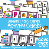 Blends Train Cards - Phoneme Segmentation Activities