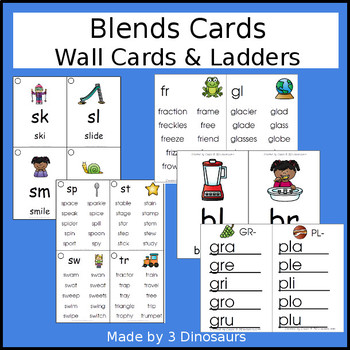 Blends Wall Cards & Ladders