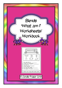 Blends 'What Am I?' Worksheets/Workbook