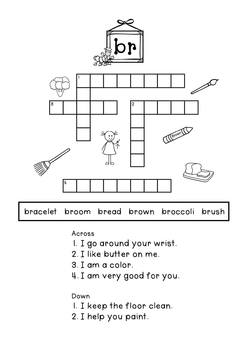 Blends 'What am I?' Crossword Puzzles C/C Aligned