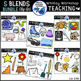 Blends With S Bundle Clipart (6 Sets) Whimsy Workshop Teaching