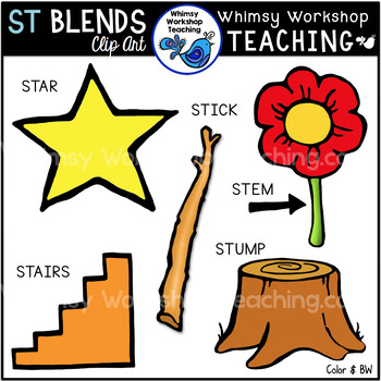 Blends With ST Clipart