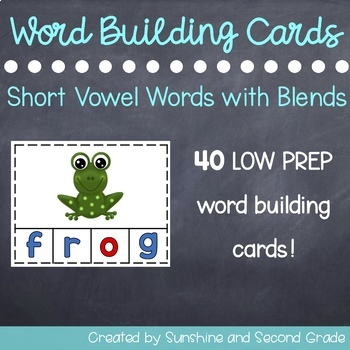 Word Building Cards [L-Blends, R-Blends, S-Blends]