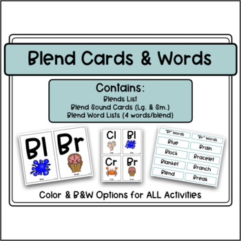 Blends Word Cards