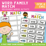 Blends Word Family Matching Game